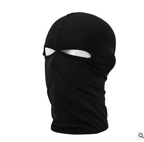Wenyujh Damen Herren Multifunktion Sturmhaube Gesichtsmaske Gesichtshaube Balaclava Skihaube Kopfbedeckung (Schwarz)