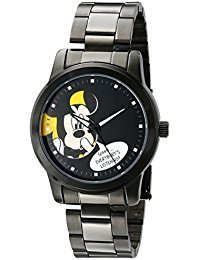 Disney Unisex W001840 Mickey Mouse Analog Display Analog Quartz Black Watch