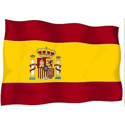 Lote de 10x Pegatina Adhesivo bandera España español moto coche Vinyl