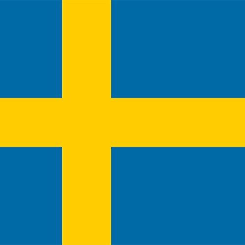 Magnet Frigo avec drapeau national suédois - 5 x 5 cm - Aimant pour les amis de Suède