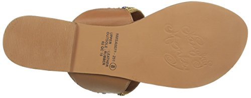 Naughty Monkey Buckle Up Femmes Cuir Tongs Tan