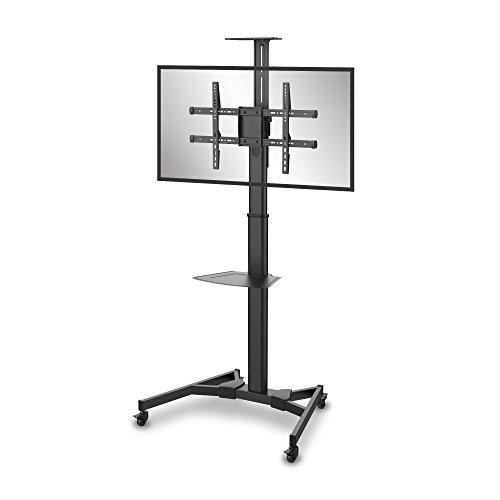 conecto LM-FS02B Professional TV-Ständer Standfuß für Flachbildschirm LCD LED Plasma höhenverstellbar 37-70 Zoll (94-178 cm, bis 50 kg Tragkraft) max. VESA 600x400mm, Stahl, schwarz