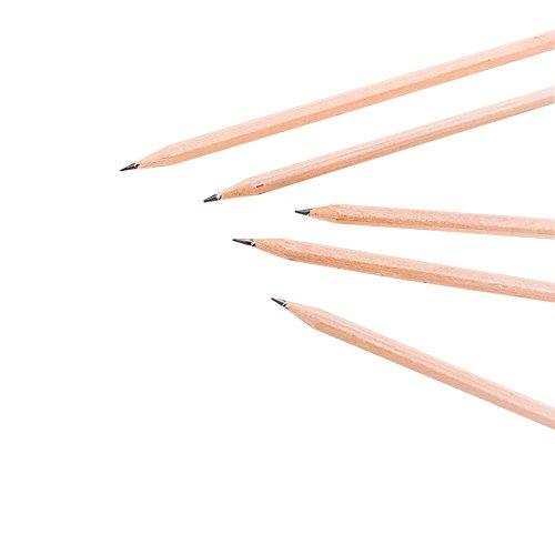 viewhuge 100Natur Holz Bleistifte, HB Bleistift Kinder Stationery Malen Zeichnen Supplies Geschenke Spielzeug