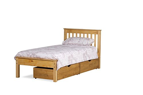 Happy Beds Chester Solid Waxed Pine Wooden Bed Space Bedroom Furniture Frame 4' Small Double 120 x 190 cm
