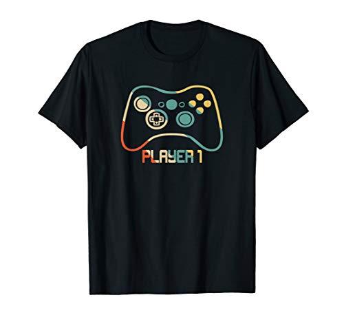 Spieler 1 Videospiel-Paar Kostüm T-Shirt Video Game