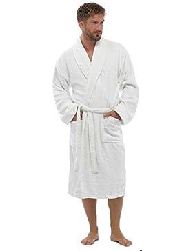 Mens de lujo 100% Algodón Rizo Albornoz bata Wrap ropa de dormir HT566