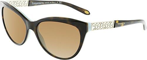 Tiffany 0ty4126b 80014u 57, occhiali da sole donna, nero (black/polarblueegradient)
