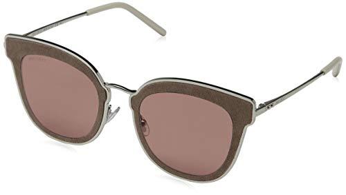 Jimmy Choo Damen NILE/S 2M S0J 63 Sonnenbrille, (Silver Beige/Bw Black Brown)