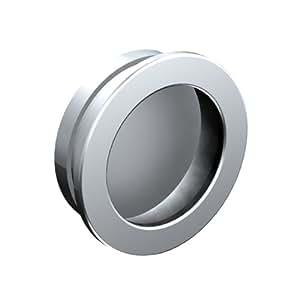 Poignée cuvette ronde diamètre 35 mm - métal chromé