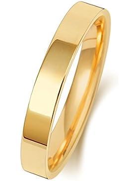 18 Karat (750) Gold 3mm Trauring/Ehering/Hochzeitsring