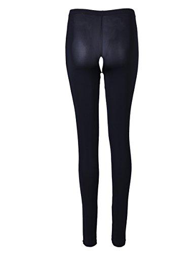 YiZYiF Transparente Leggings Damen Netz Bell-Bottom Hosen Reizwäsche Dessous Erotik Unterwäsche M XL WW Schwarz (Ouvert) Tights