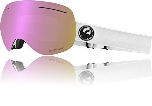 Drachen X1 Weiß Lumalens Rosa Ion + Dunkler Rauch 28600-100 Snow Goggles