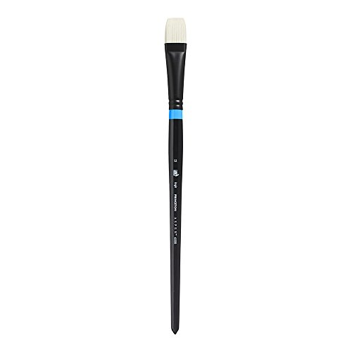 Princeton Aspen, Glare-Free Indoor/Outdoor Brush for Acrylic & Oil, Series 6500 Bright Synthetic, Size 12 -
