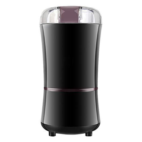 HshDUti Elektrische Frisch Gemahlene Kaffeebohne Schleifer,Samen Gewürz Herb Pepper Mill Machine Grinder Crusher Black