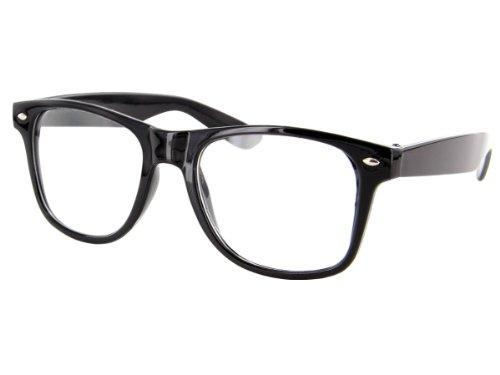 Alsino Retro Fake Brille ohne Sehstärke Sonnenbrille Nerd Brille klar