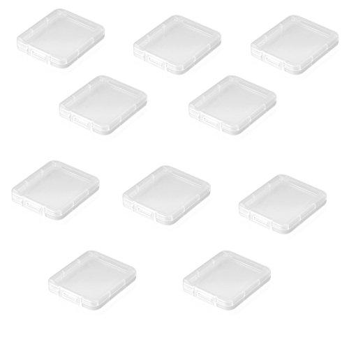 Sienoc 10 Stück Schutzhülle für SD Karte oder SD SDHC XD MMC CF Aufbewahrung