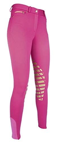HKM Erwachsene Reithose-Soft-Silikon-Kniebesatz3900 Hose, 3900 pink, 38