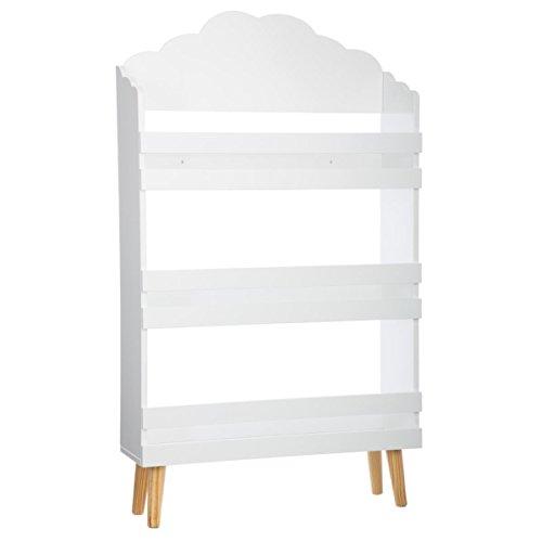Bücherregal mit 3 Ablagen – Wolken-Form - Farbe WEIß