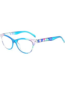 Inlefen Hombres Mujeres Cat Eye Clear Lens Eye Glasses Frame Gafas de lectura 1.0 1.5 2.0 2.5 3.0 3.5 4.0