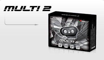 N-COM Bluetooth-Kit Multi 2 Einzelpack Für fast alle Helme geeignet Motorrad Bluetooth Helm Kit