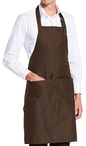 Schürze - Braun Blanko - Braune Latz-Schürze ()