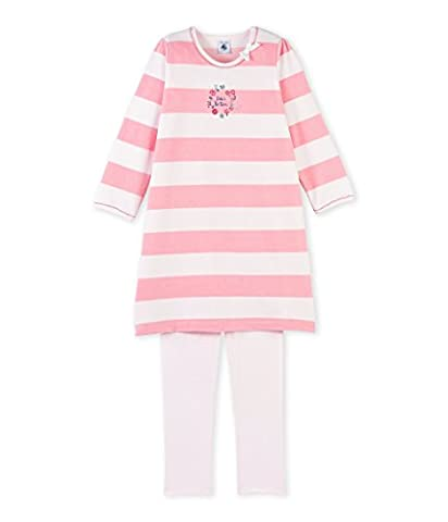 Petit Bateau Girl's Chem.Nuit + Legging Pyjama Set, Pink-Rosa (Vienne/Gretel 78), 6 Years