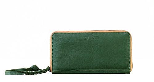 10a63a79a0b7 Paul Marius LE PORTEFEUILLE CHARLOTTE Vert Kaki portefeuille femme cuir de vachette  pleine fleur