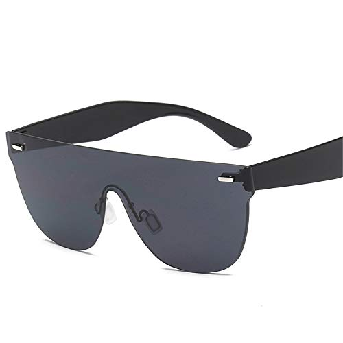Eine ganze Ozean Farbe Sonnenbrille persönlichkeit Unisex Fahrrad reitbrille rahmenlose Sonnenbrille Brille (Farbe : Schwarz)