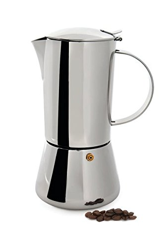 BergHOFF 0.6 Litre Stainless Steel Studio Espresso/Coffee Maker, Silver