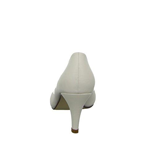 branco Atualizados 30 Branco Bombas Senhoras A Andar 50mm Elegante Vivendo Calcanhar 6779 BqPg1Pnf