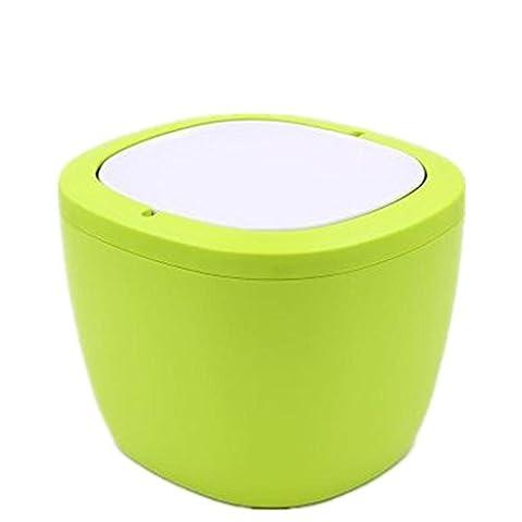 GUANSIJIE Mülleimer Creative Desktop Mülleimer Mini Schreibtisch Küche Haushalt Wohnzimmer Schlafzimmer Mülleimer Größe 16 5 * 12 * 12 4cm yellow