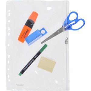 FolderSys 10 x Gleitverschlusstasche 305x213mm (keine A4 Blätter) PVC mit Lochung klar