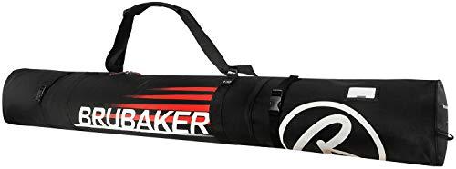 BRUBAKER Carver Champion Skitasche für 1 Paar Ski und Stöcke 170 cm Schwarz Rot