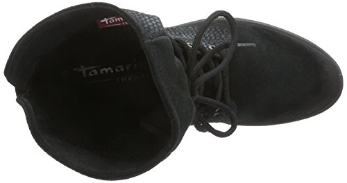 Tamaris 25233 Combat Bottes Femme Noir - Schwarz (Black/Blk Str. 021)