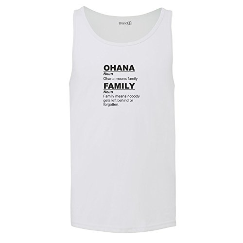 Brand88 - Ohana Means Family, Unisex Jersey Weste Weiß