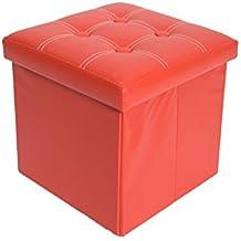 Mobili Rebecca® Puff Arcón Banqueta Asiento Caja decorativas Puf plegable para almacenar cosas 38 x 38 x 38 cm (Cod. RE4916)