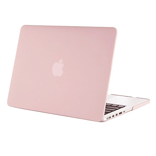 MOSISO Hülle Kompatibel MacBook Pro Retina 13 - Plastik Hartschale Hülle Kompatibel Ältere Version MacBook Pro Retina 13 Zoll (Modell: A1502 & A1425) (Release 2015 - Ende 2012), Rosenquarz