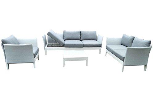 Ribelli Lounge Set Aluminium 'Annbrit'- Alu Loungemöbel Garnitur 4 teilig für Garten & Terrasse -...