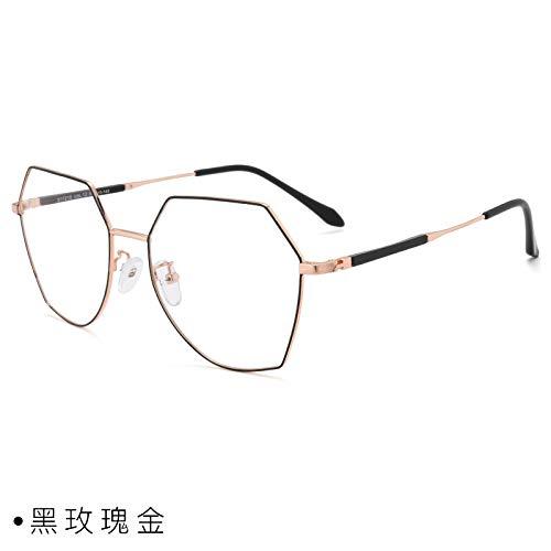 CFLFDC Sonnenbrillen Myopia Glasses Frame Glasses Frauen Net Rot Vegetarisch Yen Xian Gesicht Dünn Mit Myopie-spiegel-rahmen Mann 1,67 (ultradünn) Schwarze Rose Gold
