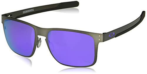Oakley Men's Holbrook Metal Non-Polarized Iridium Square Sunglasses, Gunmetal, 55.0 mm