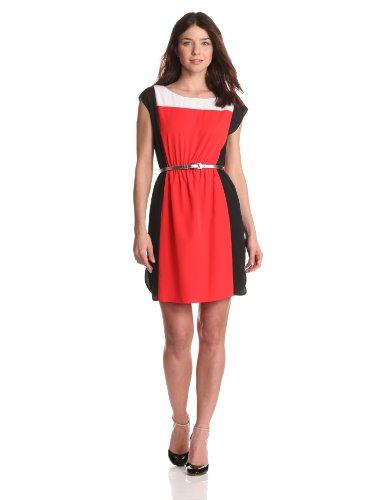 Eliza J Women's Colorblock Dress with Elastic Waistband