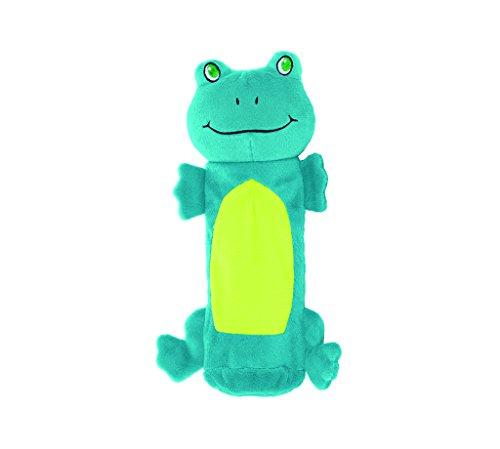 Kyjen 32082 Outward Hound Plüschfrosch Kauspielzeuge Wasserflasche Giggler Spielzeug, Größe L, Mehrfarbig