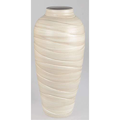 formano Deko Bodenvase Relief H. 50cm Creme aus Keramik