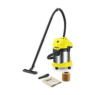 Kärcher WD 3 Premium - Aspirador en seco y húmedo, 1000 W, 17 l con depósito en acero inox (B00IAPOPAI) | Amazon Products