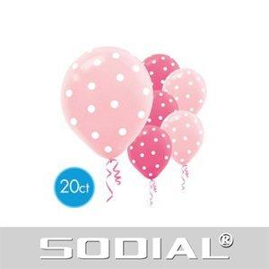 rosa Helium Tupfen-Luftballons (Rosa Tupfen-luftballons)