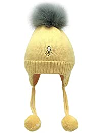 4cb0026449725 Mitlfuny Niños Niñas Sombreros de Punto Gruesa para Bebé Invierno Caliente  Gorro de Lana Color Sólido