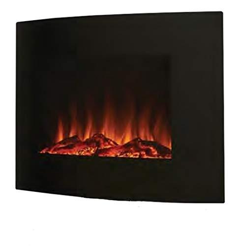 Noble Flame Madison - Chimenea de Pared eléctrica arqueada, Color Negro