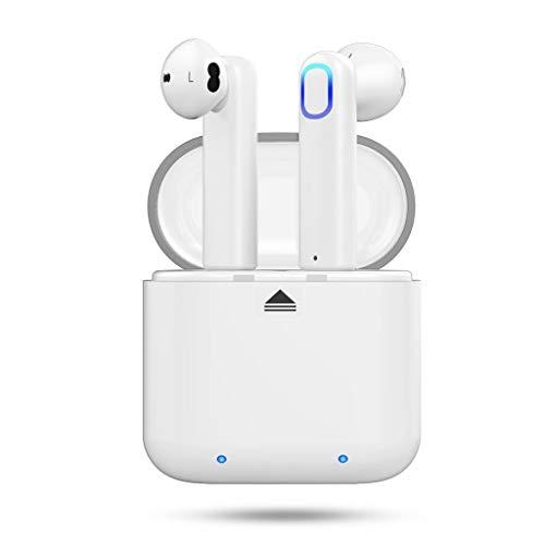 Bluetooth Headset,Sport Bluetooth 4.2 Apple Android Universelle TWS Wireless Ear Kopfhörer, Kompatibel mit iPhone Samsung Huawei HTC und andere Smartphone-Laufwerke Gym Sport Jogging (Schwarz/Weiß)