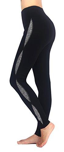 Flatik - Leggings sportivi -  donna Black/Gray