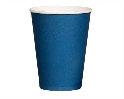 Tee blau Einweg Single Wand Kalte/Heiße Getränke Picnic Party Geschirr Reise (Rosenblätter aus) (8oz/12oz) 340,2 g (12 oz) blau ()
